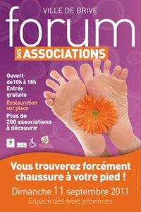 afiche du forum des associations de Brive 2011